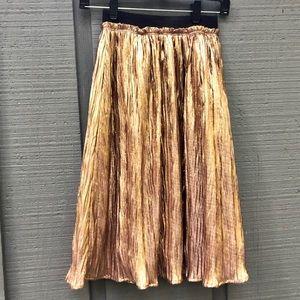 Shiny gold midi skirt by ASTR